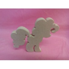 18mm MDF standing fantasy pony design 2